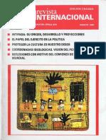 Revista Internacional. Edicion Chilena. Nuestra Epoca N°8. Agosto 1989