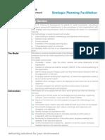 Factsheet Strategic Planning Facilitation