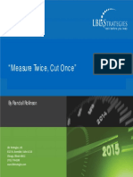 Strategic Management Measure Twice Cut Once