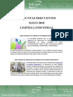 Preguntas Frecuentes Mayo 18 - Limpieza Industrial