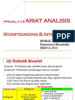 Konsep Multivariat, Confounding,  Interaksi (+Stata)