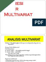 Regresi.linier.multivariat Materi Kedua Belas