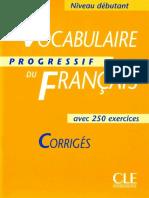 Vocabulaire progressif du Francais - Niveau débutant corrigés.pdf