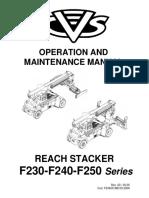 Manual de Servicio y Mantenimiento - Ferrari Reach Stacker f258