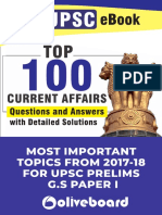 UPSC Top 100 Current Affairs Q and A