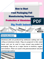 How to Start Food Packaging Foil Manufacturing Business