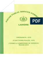 PPSC Ordinance 1978