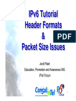IPv6 Tutorial Header Formats Packet Size Issues