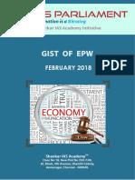 Gist of EPW February 2018 Www.iasparliament.com