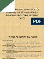 8. Tipos de Datos - Funciones en Oracle
