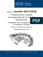 Fundamentos y Bases  Conceptuales de la Terapia  Ocupacional