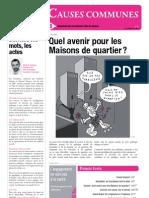 Maisons de quartier - Revue Causes communes n°15