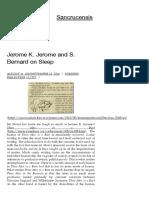 Jerome K. Jerome and S. Bernard onSleep