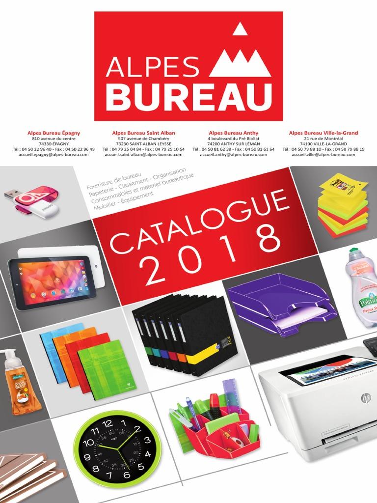 Catalogue Alpes Bureau 2018 | Papier | Couleur