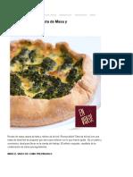 Tarta de Brócoli - Receta de Masa y Relleno _ Video Receta Fácil de Preparar Para Cocinar en Casa Todos Los Días