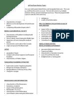 review sheet 2018
