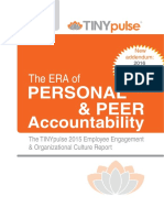 2015 Employee Engagement Organizational Culture Report