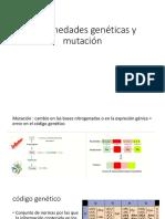 Enfermedades Genéticas y Mutación