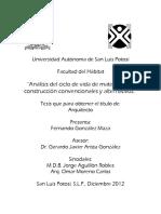 Analisis de Ciclo de Vida de Materiales de Construccion Convencionales y Alternos. Fgm. Aggj. 12