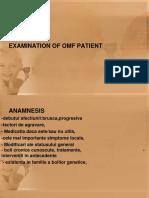 Examination of Omf Patient-