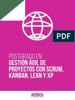 Folleto Postgrado en Gestión Ágil de Proyectos Con Scrum, Kanban, Lean y XP
