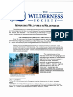 Managing Fire in Wilderness TWS