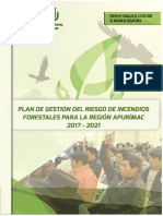 Plan Gestión Del Riesgo de Incendios Forestales Para La Región Apurímac 2017 2021