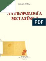 1970 Marias Antropologia Metafisica (Extracto)