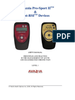 Avazzia Pro-Sport II and BEST RSI Devices Manual