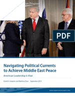 Navigating Political Currents to Achieve Middle East Peace