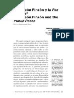 Cerbeleon Pinzon y La Paz Pública-Articulo de Un Tercero (1)