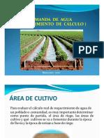 007 Hidrologia Demanda de Agua Calculos