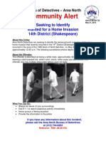 31 May 18 - 14th District Community Alert Home Invasion JB281723