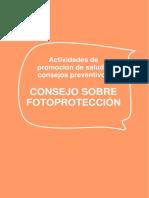 Consejo Fotoproteccion