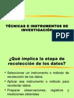 01 Técnicas e Instrumentos de Investigación