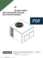 Goodman HVAC GPH1324H21 Service Manual