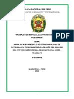 Monografia Hacia un nuevo modelo de servicio policial de patrullaje a pie remunerado a través del análisis del costo beneficio en la región policial Junín - Huancayo Ultimo.docx