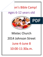 Childrens Bible Camp