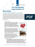 Product Factsheet Pomegranates Germany Fresh Fruit Vegetables 2014