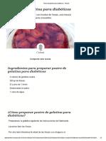 Postre de Gelatina Para Diabéticos