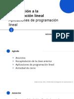 Clase 6 - Aplicaciones de Programacion Lineal