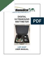 USP-50SP User Manual