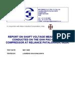 Brush Installation Report- RELIANCE PATALGANGA Air Compressor[1]