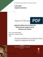 Ingenierã_a Bã_sica de Una Planta de Extracciã_n de Licopeno de Los Residuos Del Tomate