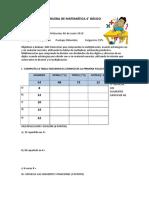 Prueba de Matemática 4