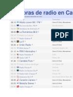 Emisoras de radio en Caracas.docx