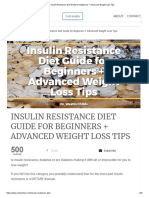 Insulin Resistance Diet Guide for Beginners + Advanced Weight Loss Tips
