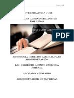 Antología Derecho Laboral USJ IIC-2018