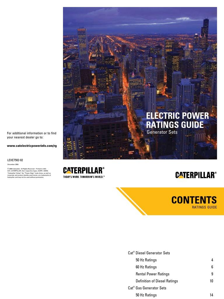 ( LEXE7582-02) Electric Power Ratings guide.pdf | Horsepower | Ton