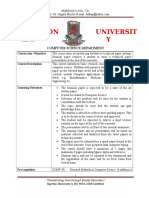 Comp495 Course Outline